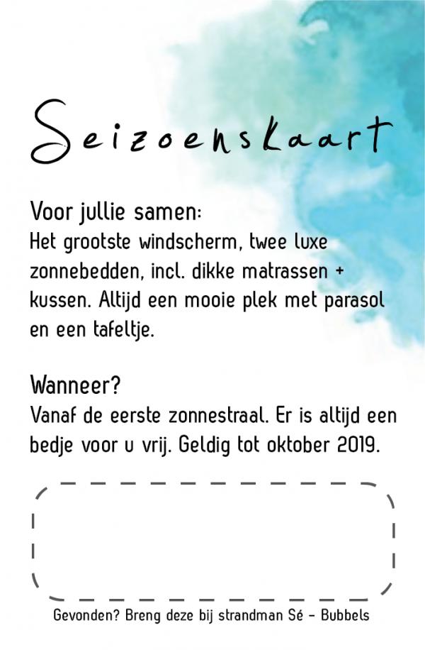 Seizoenskaart 2019